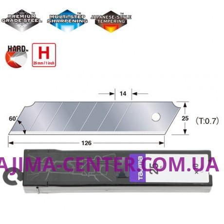 Сегментні леза Premium 25 мм  TAJIMA DORA  Endura Blades CB65, 10шт