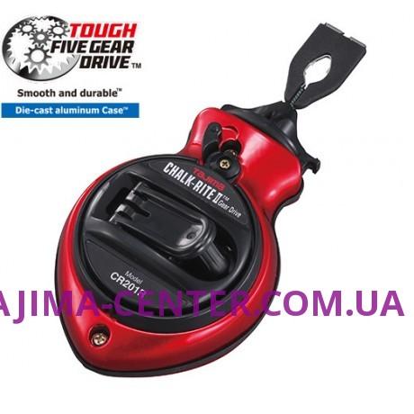 Шнур для розмітки 25м TAJIMA, CHALK-RITE II GEAR DRIVE, CR201RD
